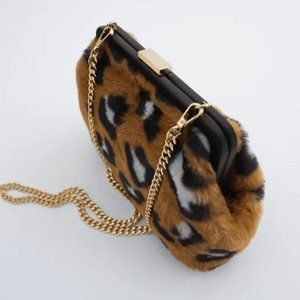 NWT Zara Multicolor Animal Print Crossbody Bag